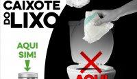 Fraldas são no lixo, NÃO na sanita!