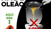Os óleos são no oleão, NÃO na sanita!