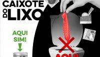 Preservativos são no lixo, NÃO na sanita!