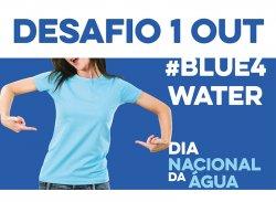 Cartaz do Desafio #blue4water
